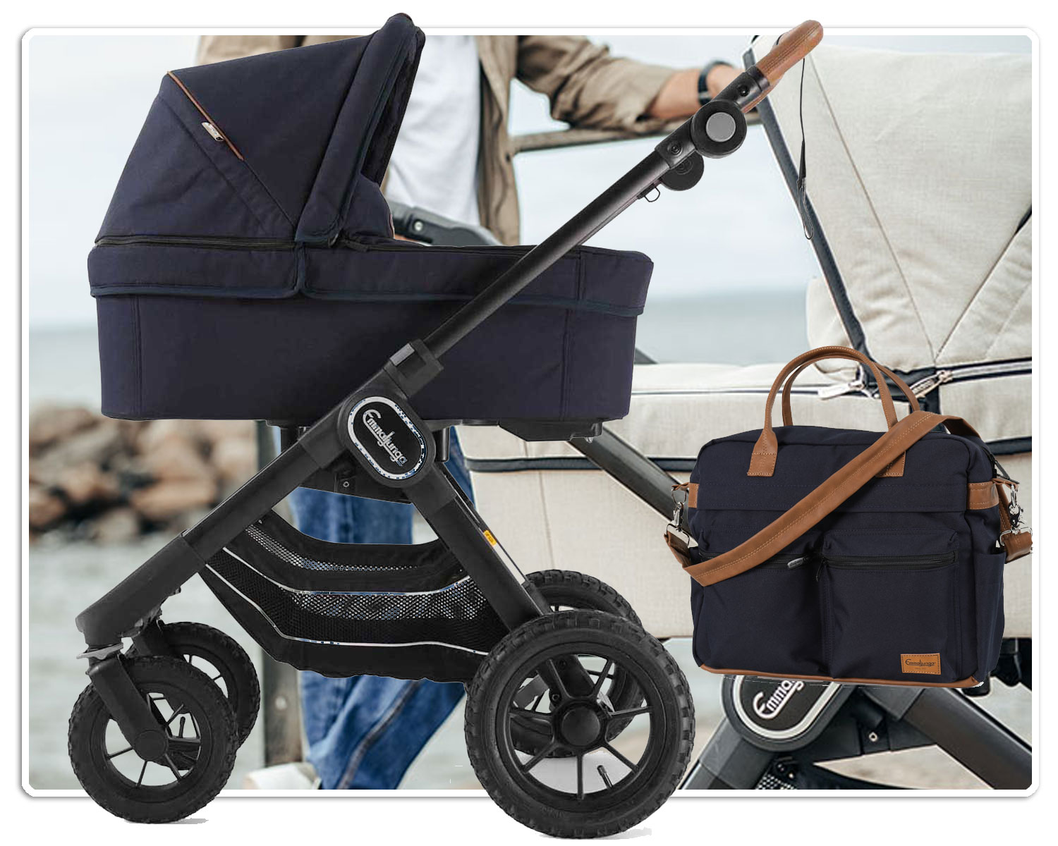 Emmaljunga Kinderwagen NXT90 plus Gratis Wickeltasche Travel