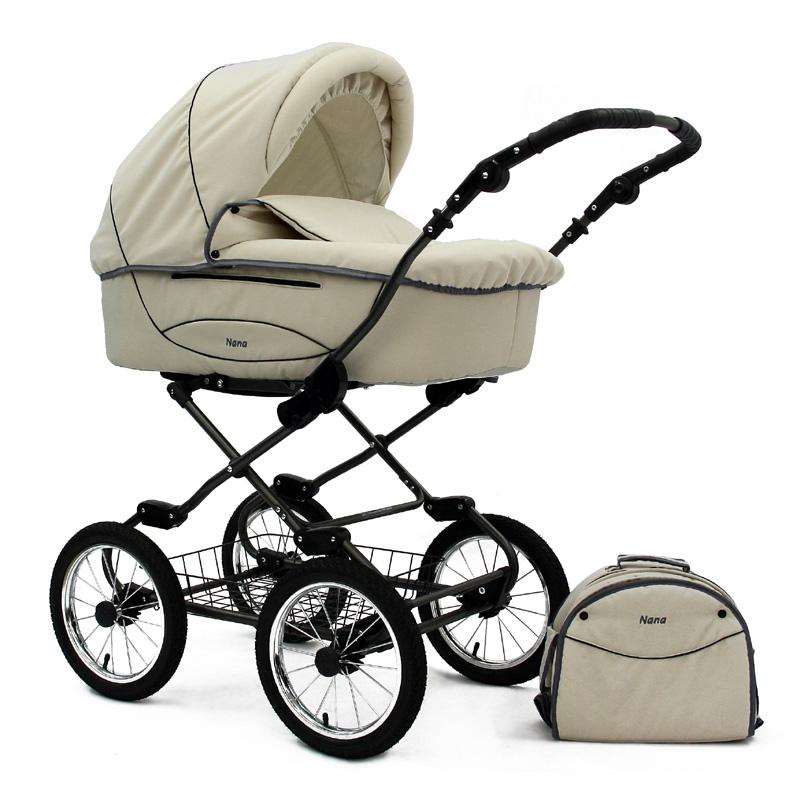 luxus kinderwagen retro kinderwagen klassisch nana gracja kombikinderwagen ebay. Black Bedroom Furniture Sets. Home Design Ideas